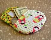 babushka doll coin purse, change purse, stocking stuffers, pouch, coin bag, mini wallet, purse, pocket pouch, babushka fabric, change wallet