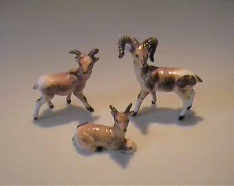 Vintage 1960's  miniature bone china family of elf deer