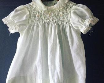 Vintage Smocked Dress 12-18 months