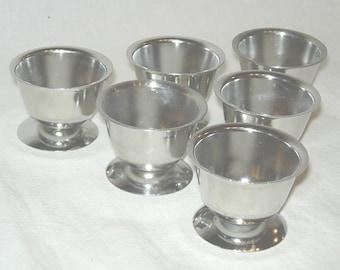 6 Denmark Stainless Steel Egg Cups Danish Mid Century Modern