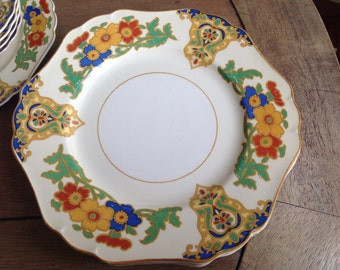 John Maddock and Sons LTD, England Ivory Mivera Cairo Plates Set of 6 from the 1920s