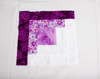 16 Quilted quilting squares purple flowers