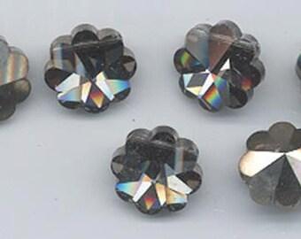 Twelve super-rare vintage Swarovski margaritas - Art. 5110 - crystal comet argent dark - 12 mm