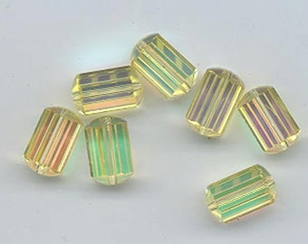 Twelve vintage Swarovski crystal beads: Art. 5230 - 10.5 x 7 mm - jonquil AB