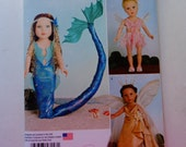"Simplicity 8158-- Mystical Clothes-Fairys- sewing pattern for 18"""" Dolls"