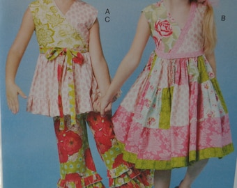 Girls Summer Dresses -Ruffled Top, Dress and Pants McCalls 6497 -Easy Dress Pattern for Girls - US Sizes: 2 -3 -4 -5 or 6 -7 -8