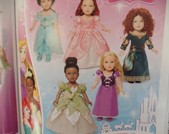Simplicity 1219--  Disney Princess-- 18 inch Doll Clothes Pattern