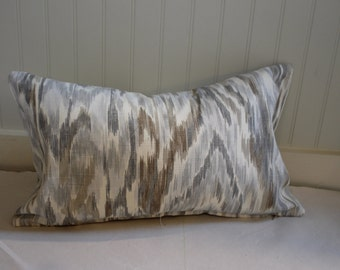 Grey, Taupe and Ivory Ikat PIllow Covers