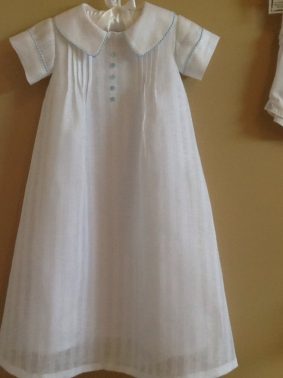 Baby Boy S Linen Christening Gown And Cap Or Bonnet