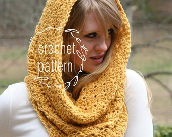 CROCHET PATTERN Two Sizes Pattern Scarf Snood Cowl Scarf  Pattern Hood Scarf Pattern Instant Download Instructions for Two Scarves