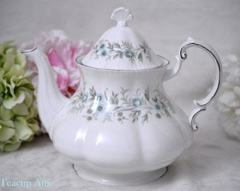 ON SALE Paragon Debutante Full Sized Teapot, English Bone China Teapot, Replacement China, Wedding Gift, c. 1980-2002