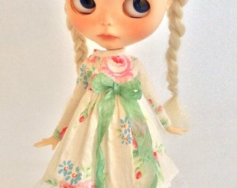 Sweet Floral Dress with Lace for Blythe