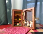 Buddha Mini Box Shrine. Miniature Nicho.  Travel Altar Shrine. Shadow Box. Mixed Media Altered Art.