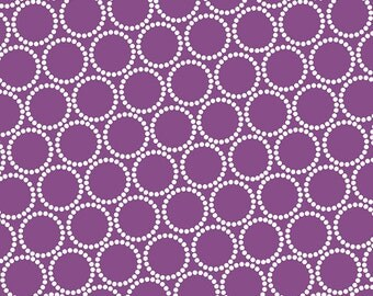 ON SALE - Mini Pearl Bracelets in Grape Jelly - Lizzy House for Andover Fabrics - A-7829-P1 - 1/2 Yard