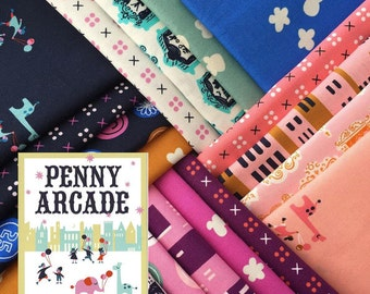 Penny Arcade - Half Yard Bundle of 18 Cotton prints - Kim Kight for Cotton + Steel - PENNY-HY