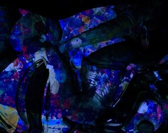 Thin gallery wrap, Aliena Blue