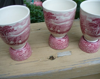 3 Jenny Lind Egg Cups