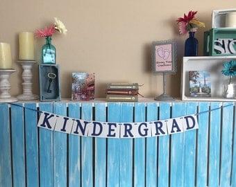 Kindergrad Banner, Graduation Banner, Mini Banner