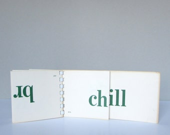 Vintage Word Flash Cards - Phonetic Word Drill Cards