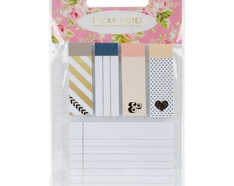 Color Crush Planner Sticky Notepad Accents by Webster's Pages 5 Pack