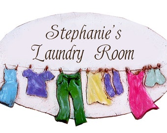 Personalized Laundry Room Sign