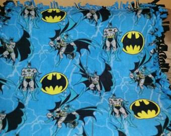Batman Fleece Tie Blanket