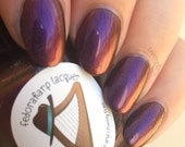 Psylocke (mini size & full size)- Multichrome purple with scattered holo indie polish by Fedoraharp Lacquer