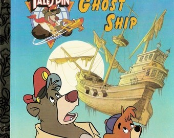 Disney's Tale Spin Ghost Ship Vintage Little Golden Book by Andrew Helfer Illustrated by Sue Dicicco