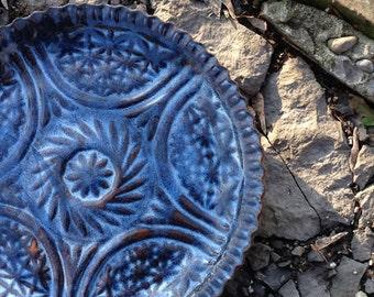Pottery Plate Handmade Ceramic Cake Plate