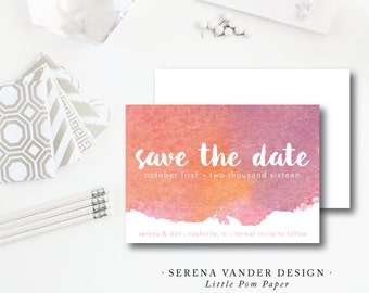 Serena Vander Design | Wedding Save the Date | Serena Vander Invitation | Printed by Darby Cards Collective