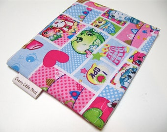 Reusable Snack Bag, SHOPKINS Snack Bag, Shopkins Sandwich Bag, Waste Free Lunch Option, Girls Snack Bag, Back To School