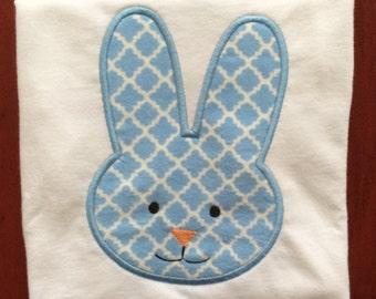 Boy Bunny DIY Iron -On Applique
