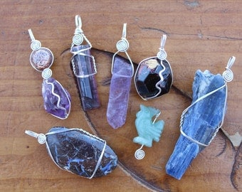 Create Your Own Pendant - Sterling Silver Custom Wrap Wrap for Your Stone *UPGRADE*