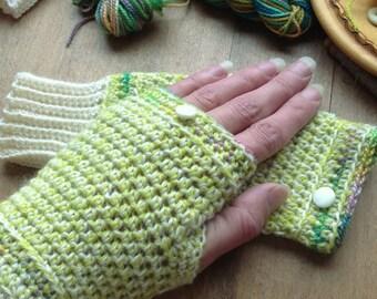 FingerLess Gloves Arm Warmer Women's Gloves Wrist Warmer Winter Wear Mittens Hand Warmer by Artistic NeedleWork