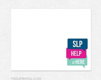 SLP speech language pathologist personal stationery - FREE UPS ground shipping