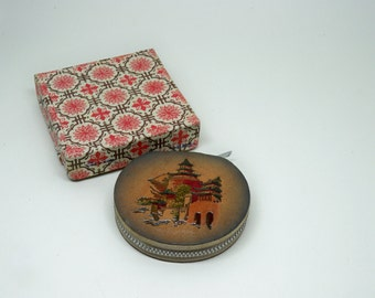 Vintage Powder Compact Leather