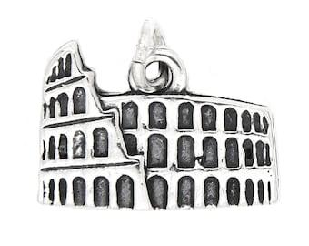 Sterling Silver The Colosseum Coliseum Flavian Amphitheatre Charm