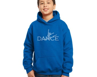 Boy's Hooded Sweatshirt - Dancer Created Out of Popular Styles of Dance