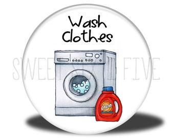 Wash Clothes - Chore Magnet