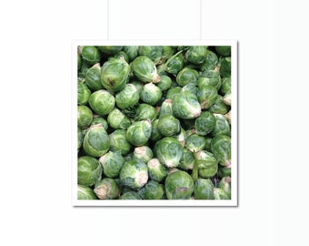 Brussels Sprouts Print | Kitchen Art Photography | Home Decor | Wall Art | Food Decor | Green