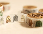 DIY Removable Adhesive Masking Deco Washi Tape - Mens Clothes  (2 cm Width)