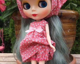 Blythe Doll Dress Pink Summer