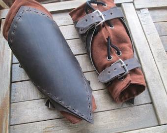 Ranger Leather Bracers - Arm Guards, Medieval, Renaissance, Armor