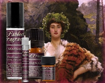 MAENAD Perfume: Bacchian Nymph, Juicy Raspberry, Sweet Vanilla, Artisan Fragrance, Vegan Solid Perfume, Ships Out in 6-9 Days
