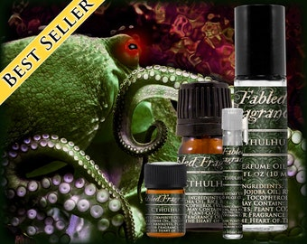CTHULHU Cologne: Ocean Incense Fragrance, Fresh Katrafay, Green Seaweed, Blackened Oud, Vegan Solid Perfume, Ships Out in 4-7 Days