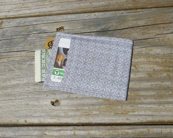 Card Sleeve, Minimalist Wallet, Gray Wallpaper, One of a Kind