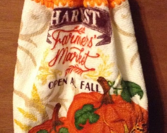 Fall Crochet Kitchen Hand Towel