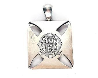 Wonderful Victorian Sterling Silver Maltese Cross Locket