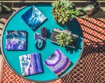 Crystal Inspired Ceramic Coasters