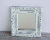 Shabby painted mirror- Free Shipping